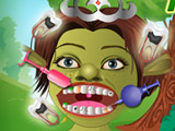 Grüne Monster-Zahnarzt-Sorgfalt
