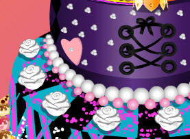 Monster High születésnapi tortadíszítő