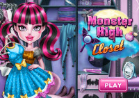 Monster High gardróbszoba