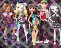 Monster High csoportképes kirakó
