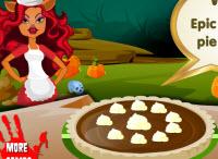 Különleges csokis pite Monster High módra